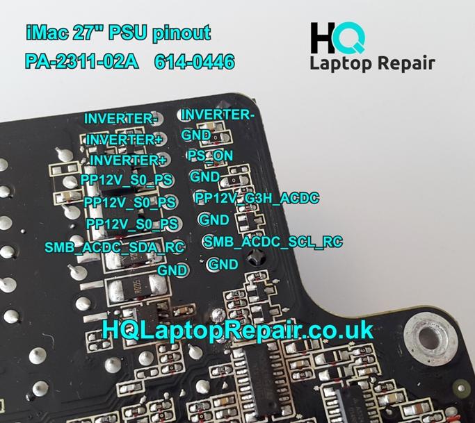 iMac A1312 PSU Pinout – HQ Laptop Repair